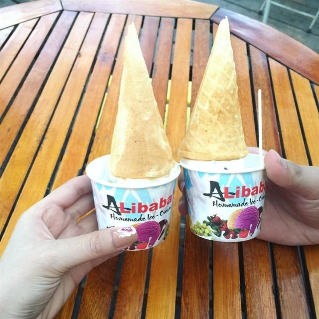 Món ngon không thể bỏ qua khi tới vũng tàu – kem Alibaba.